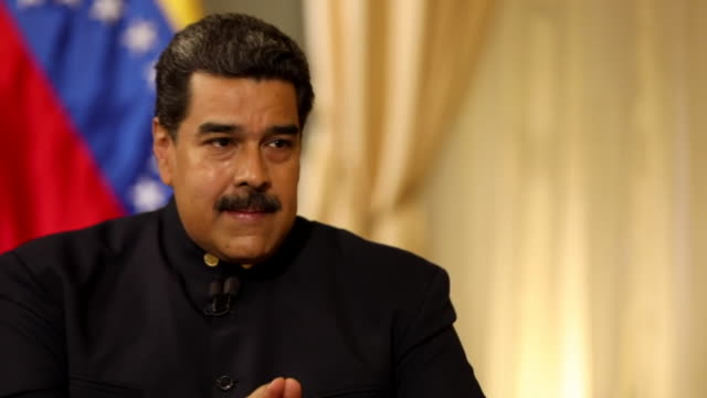 Nicolas Maduro saying the Ku Klux Klan 'rule the White House' and are trying to take over Venezuela