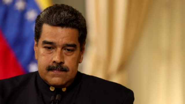Nicolas Maduro saying 'the most powerful empire in the world has targeted our accounts frozen our assets and gone after every ship bringing products...