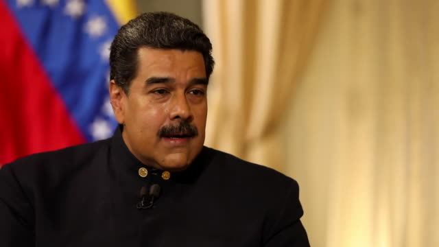 Nicolas Maduro saying the US aid convoy should come 'with the money they have stolen from us then we can solve all of our problems'