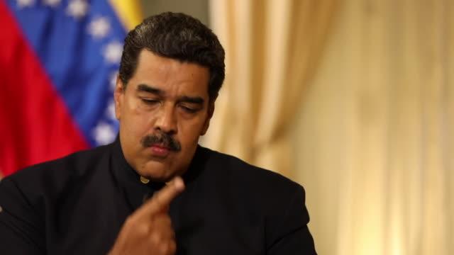 Nicolas Maduro saying the Venezuelan military 'are loyal to the commanderinchief who is Nicolas Maduro'