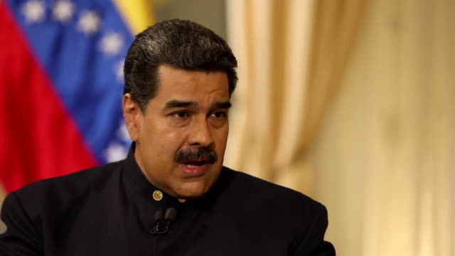 Nicolas Maduro saying the Venezuelan people have dignity and 'do not want the miniscule crumbs of toxic food' provided by aid from the USA