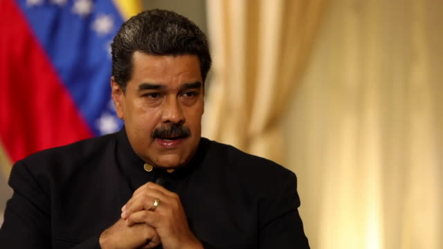 Nicolas Maduro saying Venezuela would respond with its military if it had to defend itself against a US invasion