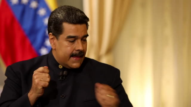 Nicolas Maduro stating he won the Venezuelan Presidential election with 68% of the votes