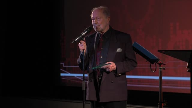 vídeos de stock, filmes e b-roll de nicolas roeg at the 32nd london film critics' circle awards 2012 london, uk on 18th january 2012 - nicolas roeg