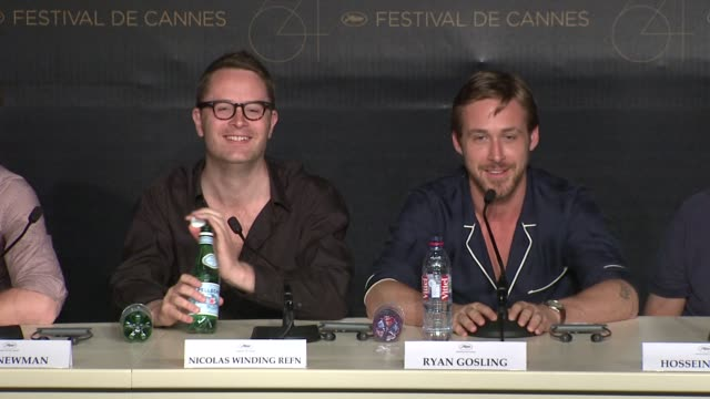 nicolas winding refn and ryan gosling on if he is due to win a major award at the drive press conference 64th cannes film festival at cannes - ryan gosling stock videos and b-roll footage