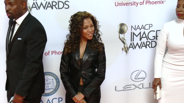 nicole beharie at the 46th annual naacp image awards arrivals at pasadena civic auditorium on february 06 2015 in pasadena california - pasadena civic auditorium stock videos & royalty-free footage