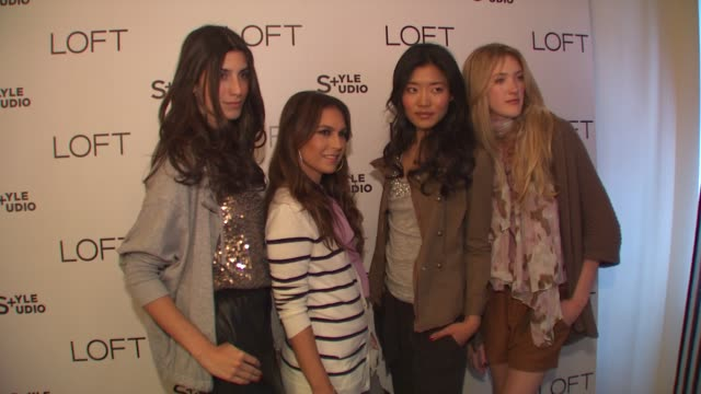 nicole chavez, models at the loft fall 2010 style studio press preview and cocktail party at los angeles ca. - loft apartment stock videos & royalty-free footage