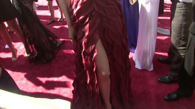 vídeos de stock, filmes e b-roll de nicole forester at the 35th annual daytime emmy awards @ the kodak theatre at hollywood california - forester