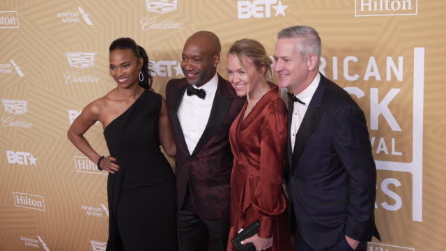nicole friday and jeff friday at the the american black film festival honors awards ceremony at the beverly hilton hotel on february 23, 2020 in... - the beverly hilton hotel stock videos & royalty-free footage