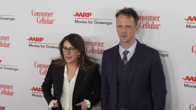 nicole holofcener and jeff whitty at the 18th annual movies for grownups awards at the beverly wilshire four seasons hotel on february 04, 2019 in... - フォーシーズンズホテル点の映像素材/bロール