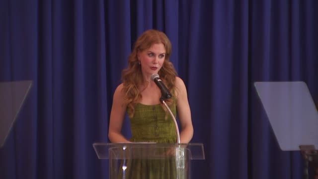 nicole kidman acceptance at the hollywood foreign press association's installation luncheon at los angeles ca. - nicole kidman stock videos & royalty-free footage