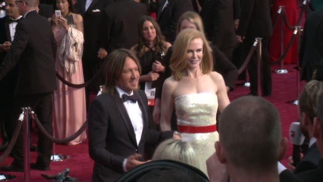 nicole kidman and keith urban at 87th annual academy awards - arrivals at dolby theatre on february 22, 2015 in hollywood, california. - keith urban stock videos & royalty-free footage