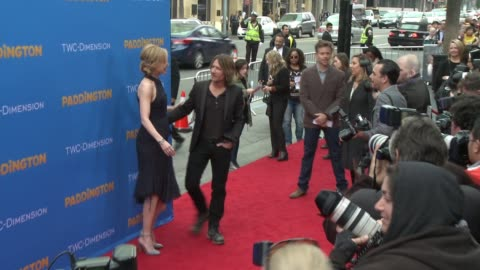 nicole kidman and keith urban at 'paddington' los angeles premiere at arclight cinemas cinerama dome on january 10, 2015 in hollywood, california. - cinerama dome hollywood stock-videos und b-roll-filmmaterial