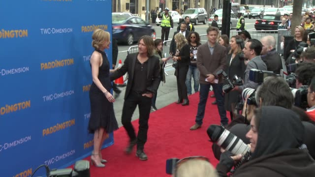 nicole kidman and keith urban at 'paddington' los angeles premiere at arclight cinemas cinerama dome on january 10 2015 in hollywood california - cinerama dome hollywood stock videos and b-roll footage