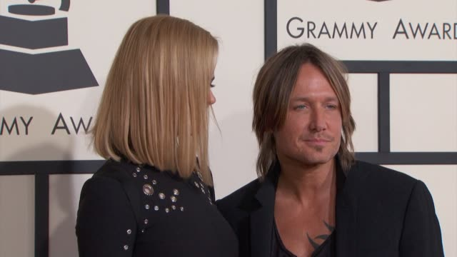 nicole kidman and keith urban at the 57th annual grammy awards red carpet at staples center on february 08 2015 in los angeles california - nicole kidman stock videos & royalty-free footage