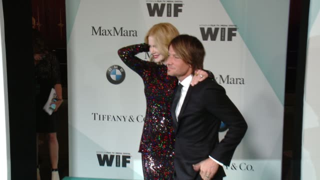 stockvideo's en b-roll-footage met nicole kidman and keith urban at women in film 2015 crystal lucy awards presented by max mara bmw of north america and tiffany co at the hyatt... - hyatt
