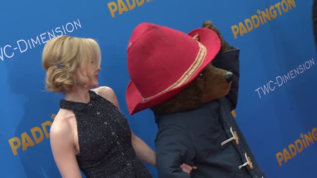nicole kidman and paddington bear at 'paddington' los angeles premiere at arclight cinemas cinerama dome on january 10 2015 in hollywood california - cinerama dome hollywood stock videos and b-roll footage