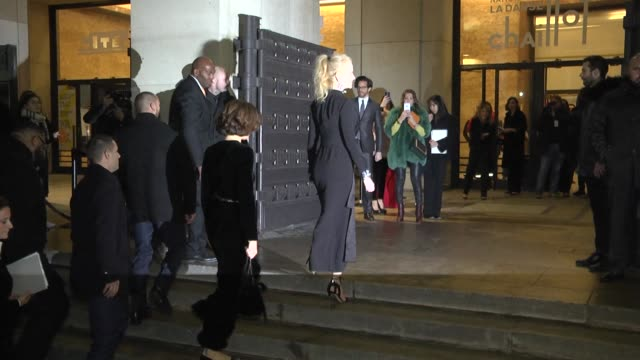 nicole kidman and roberta armani arrive at the giorgio armani prive haute couture spring summer 2017 show as part of paris fashion week on january... - nicole kidman stock videos & royalty-free footage