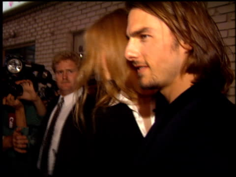 nicole kidman and tom cruise at the 'interview with the vampire' premiere at the mann village theatre in westwood california on november 9 1994 - 1994 stock videos & royalty-free footage