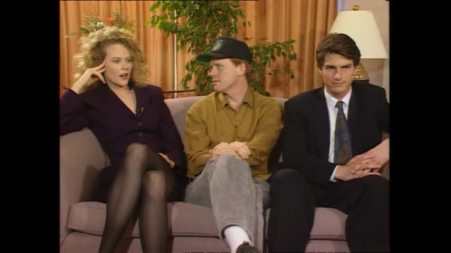 Nicole Kidman and Tom Cruise speaking about how to have a successful marriage while seated with Ron Howard during promotional interview with host...