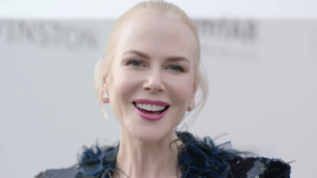 nicole kidman at amfar gala cannes 2017 at hotel du capedenroc on may 25 2017 in cap d'antibes france - amfar stock videos & royalty-free footage
