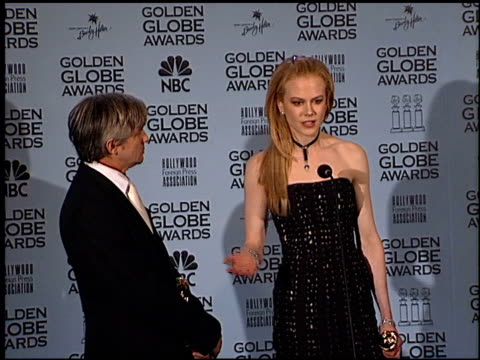 Nicole Kidman at the 2002 Golden Globe Awards at the Beverly Hilton in Beverly Hills California on January 20 2002