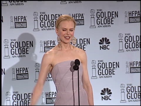Nicole Kidman at the 2003 Golden Globe Awards at the Beverly Hilton in Beverly Hills California on January 19 2003
