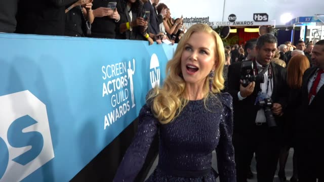 nicole kidman at the 26th annual screen actors guild awards at the shrine auditorium on january 19 2020 in los angeles california - nicole kidman stock videos & royalty-free footage