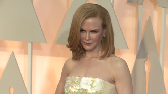 nicole kidman at the 87th annual academy awards arrivals at dolby theatre on february 22 2015 in hollywood california - nicole kidman stock videos & royalty-free footage