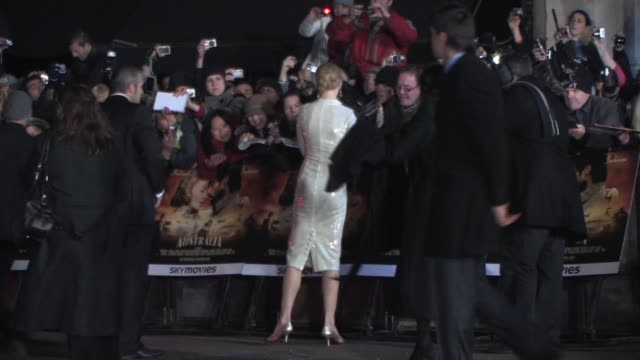 nicole kidman at the australia uk premiere at london - nicole kidman stock videos & royalty-free footage