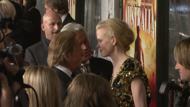 Nicole Kidman Giancarlo Giammetti and Valentino Garavani at the 'Australia' premiere at New York NY