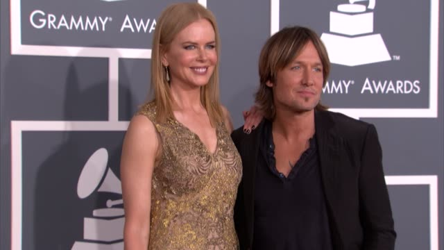 nicole kidman keith urban at the 55th annual grammy awards arrivals 2/10/2013 in los angeles ca - nicole kidman stock videos & royalty-free footage