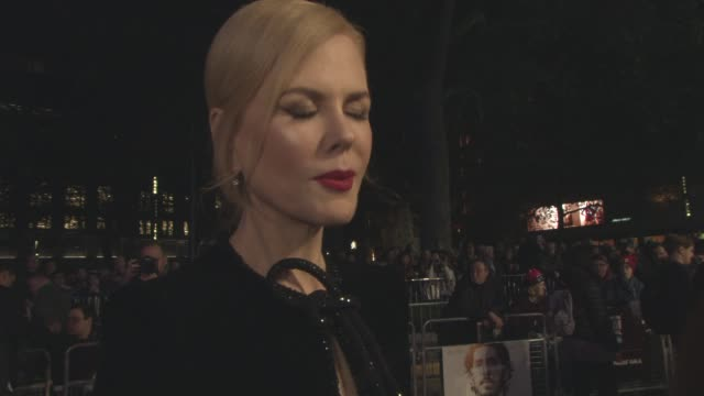 INTERVIEW Nicole Kidman on her sister being the best critic if she would let her daughters watch the film the challenges of a small film at LFF...