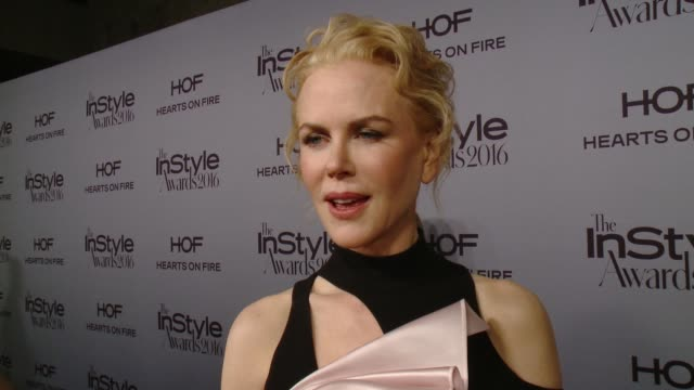 INTERVIEW Nicole Kidman on what it means to be named Style Icon by InStyle who has inspired her style and the style rule she lives by at InStyle...