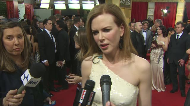 Nicole Kidman on why it's so special to be here this year for Rabbit Hole on why tonight is different at the 68th Annual Golden Globe Awards Arrivals...