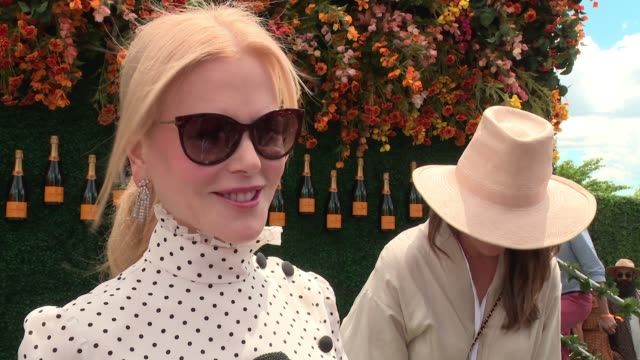 INTERVIEW – Nicole Kidman says she loves horses and used to play polo on winning an award at Cannes at TenthAnnual Veuve Clicquot Polo Classic at...