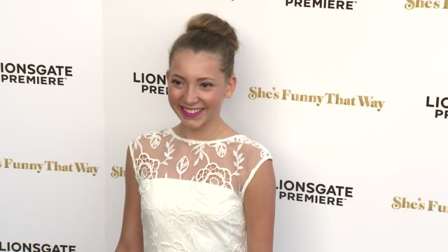 """nicole kohut at the """"she's funny that way"""" los angeles premiere at harmony gold theatre on august 19, 2015 in los angeles, california. - she's funny that way点の映像素材/bロール"""