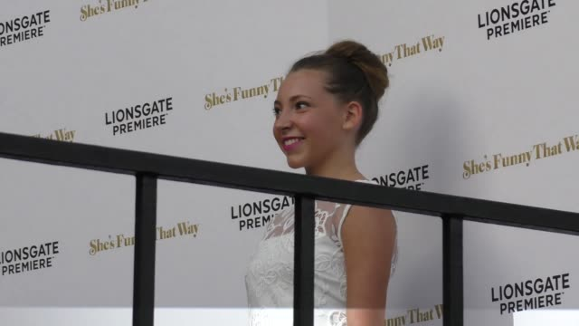 nicole kohut at the she's funny that way premiere at harmony gold in west hollywood at celebrity sightings in los angeles on august 19, 2015 in los... - she's funny that way点の映像素材/bロール