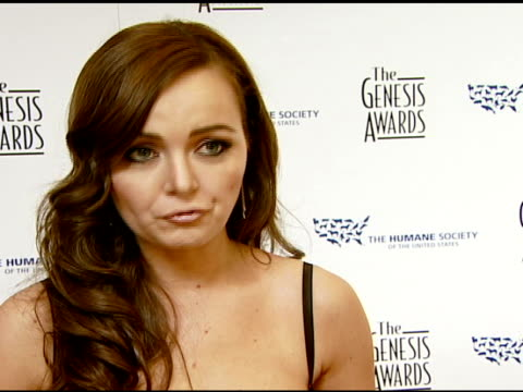 Nicole Lapin on the event at the 2008 Genesis Awards at the Beverly Hilton in Beverly Hills California on March 30 2008