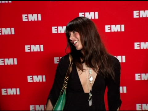 nicole lens at the emi post-grammy awards bash at the beverly hilton in beverly hills, california on february 13, 2005. - emi grammy party stock videos & royalty-free footage