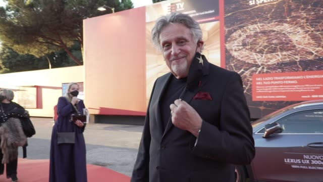 "nicole moscariello, andrea roncato attend the red carpet of the movie ""maledetta primavera"" during the 15th rome film festival on october 21, 2020 in... - rome film festival stock videos & royalty-free footage"