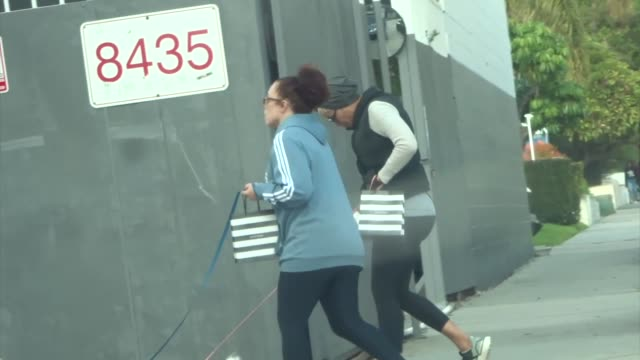 nicole murphy takes her dog for a walk after she shops at sephora in los angeles in celebrity sightings in los angeles, - celebrity sightings stock videos & royalty-free footage