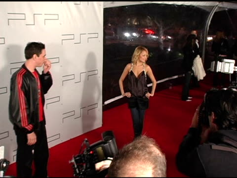 Nicole Richie and DJ AM at the PretaPSP Accessories Show at Pacific Design Center in West Hollywood California on March 14 2005