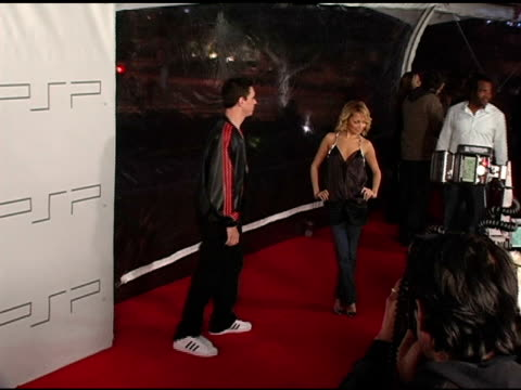 nicole richie and dj am at the pret-a-psp accessories show at pacific design center in west hollywood, california on march 14, 2005. - nicole richie stock videos & royalty-free footage