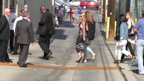 nicole richie arriving to jimmy kimmel live in los angeles in celebrity sightings in los angeles, - nicole richie stock videos & royalty-free footage