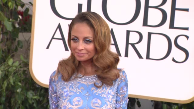 nicole richie at 70th annual golden globe awards arrivals on 1/13/13 in los angeles ca - nicole richie stock videos & royalty-free footage