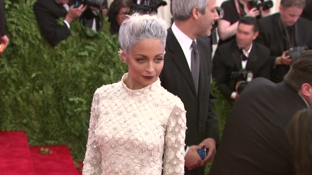 """nicole richie at """"punk: chaos to couture"""" costume institute gala at metropolitan museum of art on may 06, 2013 in new york, new york - nicole richie stock videos & royalty-free footage"""