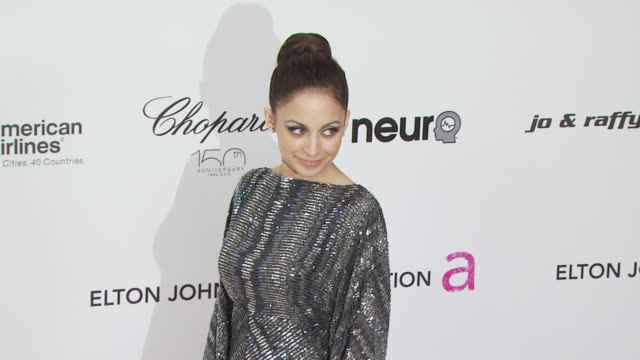 nicole richie at the 18th annual elton john aids foundation oscar party at west hollywood ca - nicole richie stock videos & royalty-free footage