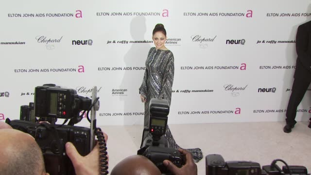 nicole richie at the 18th annual elton john aids foundation oscar party at west hollywood ca. - oscar party stock videos & royalty-free footage