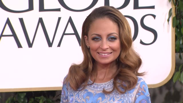 nicole richie at the 70th annual golden globe awards - arrivals in beverly hills, ca, on 1/13/13. - nicole richie stock videos & royalty-free footage
